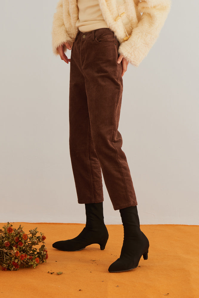 Cropped Corduroy Pants - front row shop
