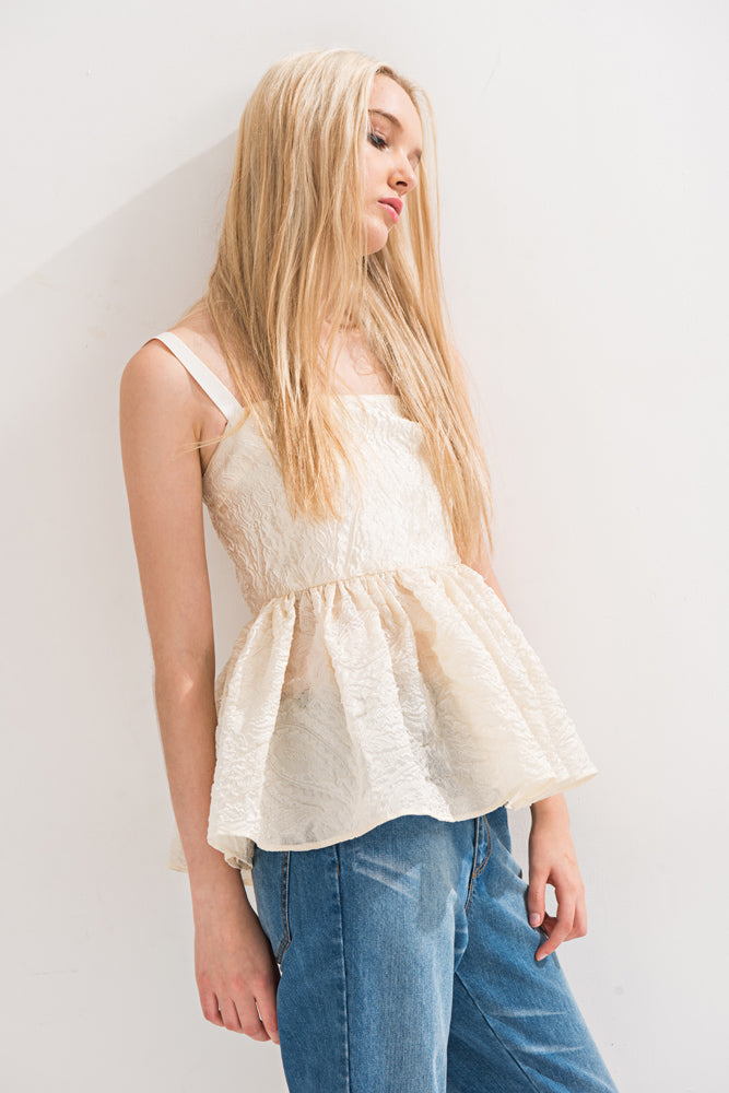 Paisley Ruffled Hem Cami Top - front row shop