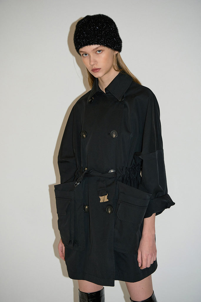 Mina Trenchcoat-Black