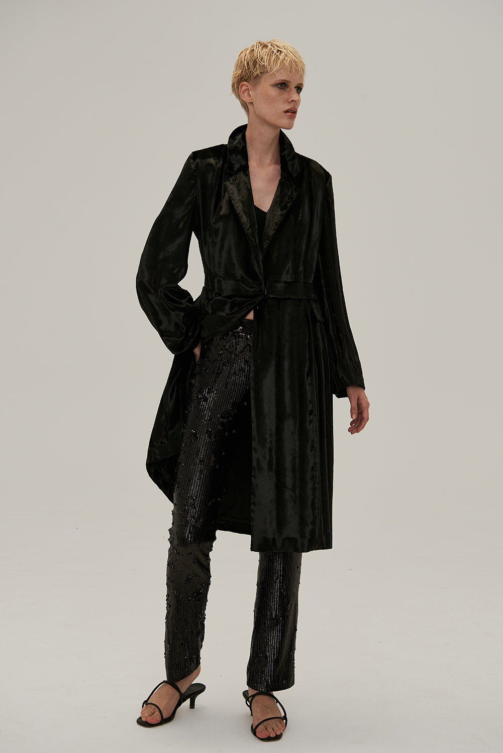 Isabella Faux Fur Coat-Black