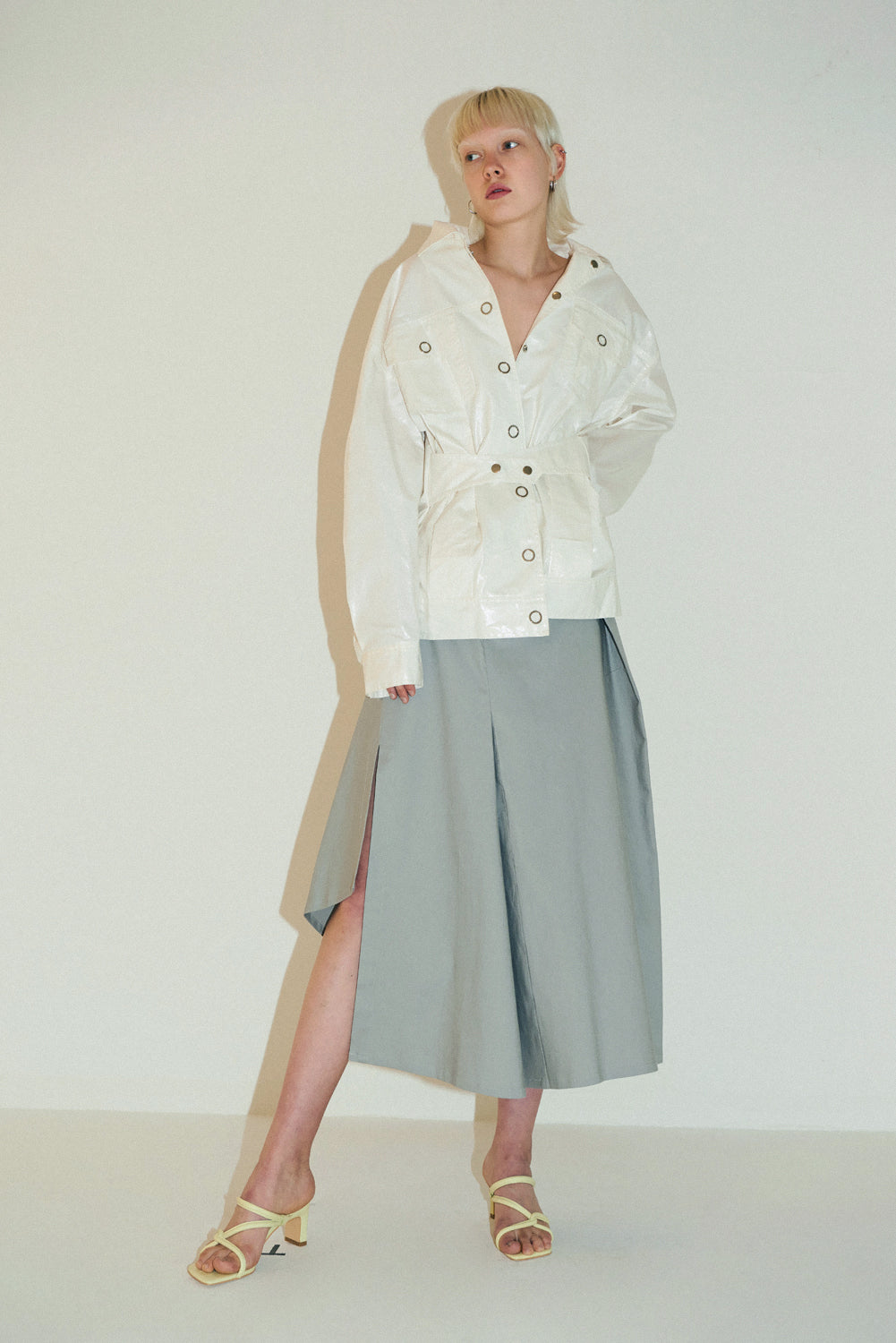 Aiko Skirt-Light Grey