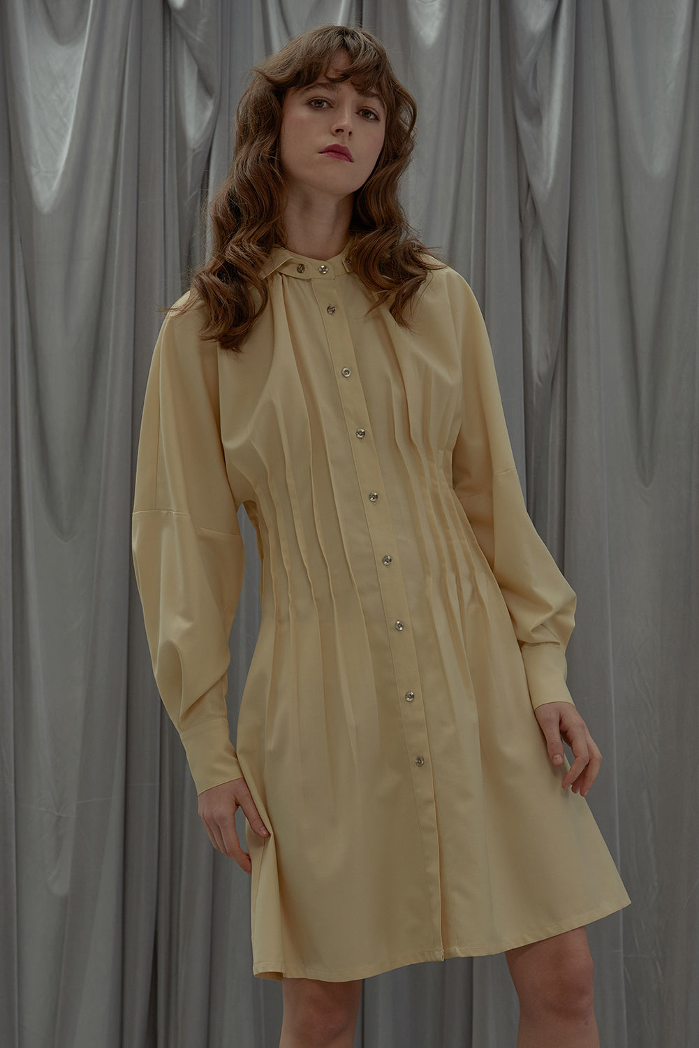Sunday Girl Dress-Vanilla Yellow
