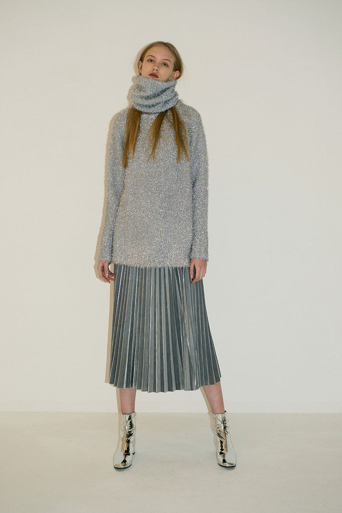Dolce Pleatedskirt--Light Grey