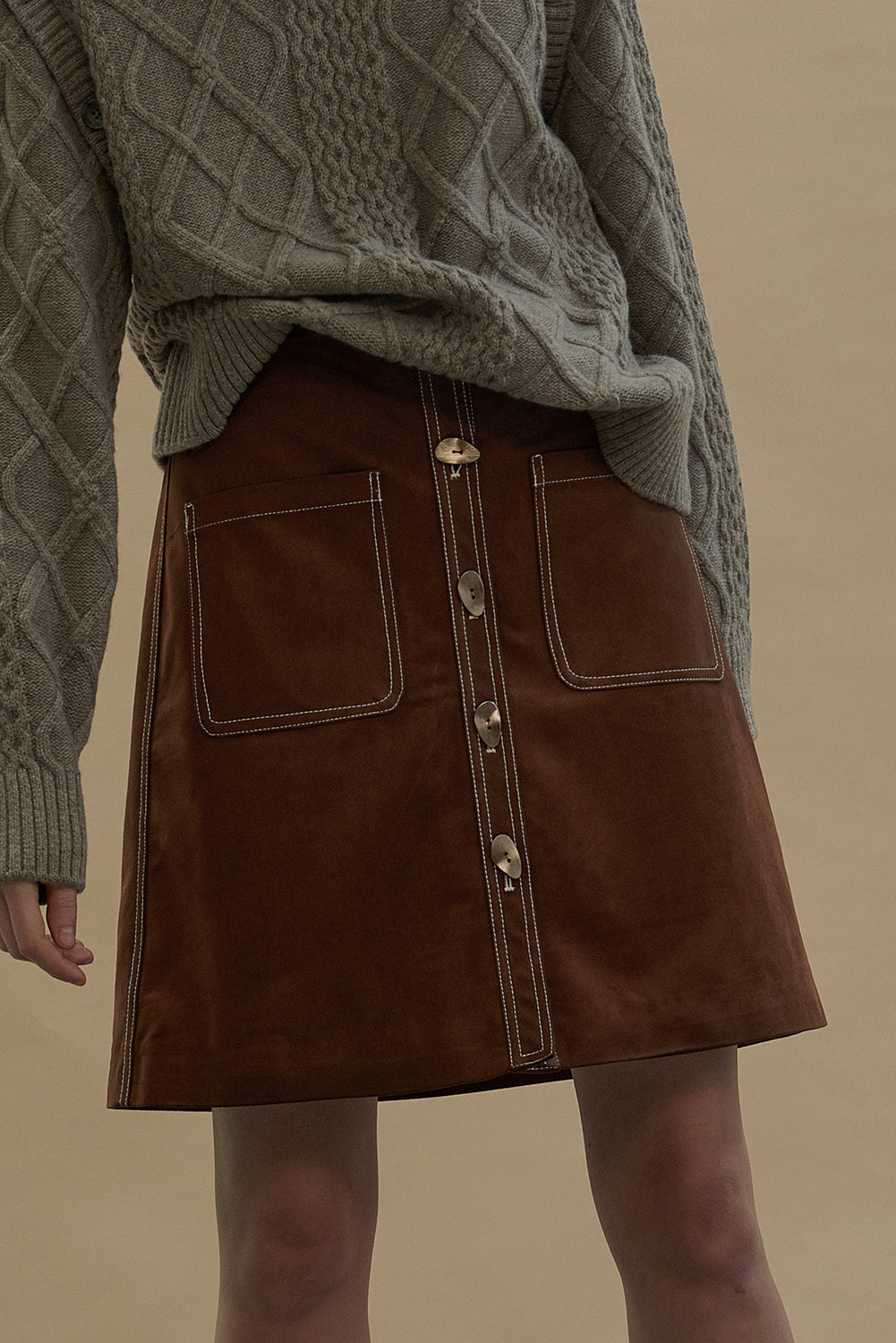 Debbie Skirt-Coffee Brown