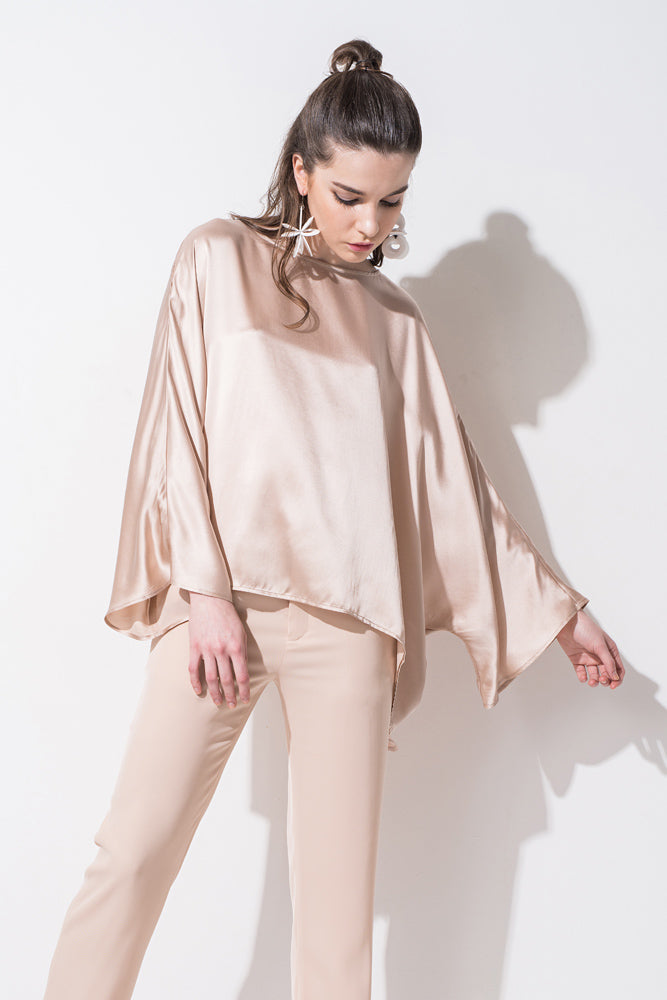 Nude Bell SLeeve Silk Shirt - front row shop