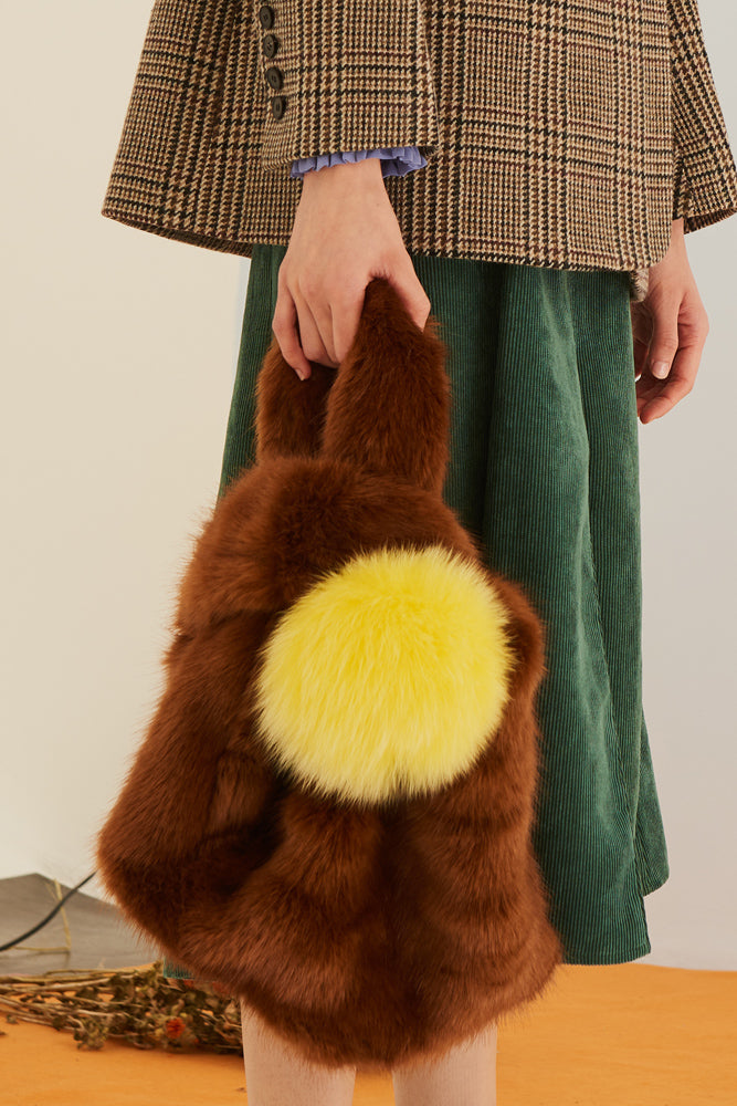 Faux Fur Bag - front row shop