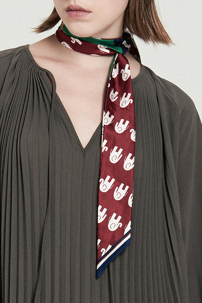 Double-sided Twilly Scarf - front row shop
