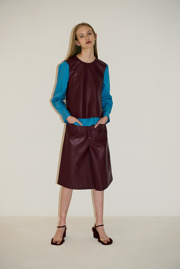 Jennifer Skirt-Burgundy