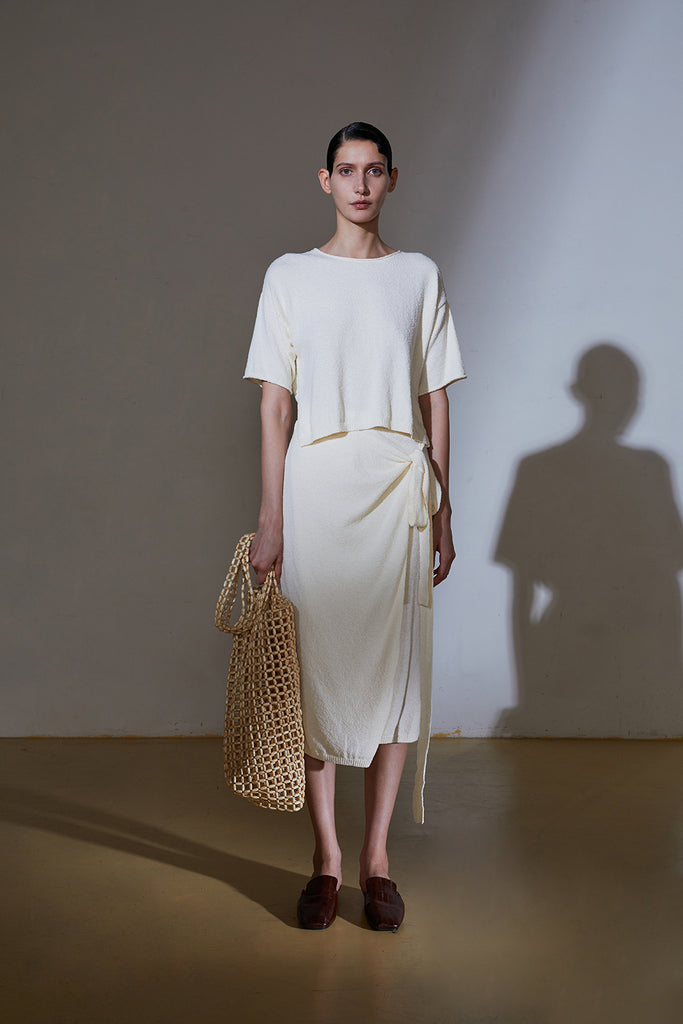 Creamy Knit Dress-Ivory