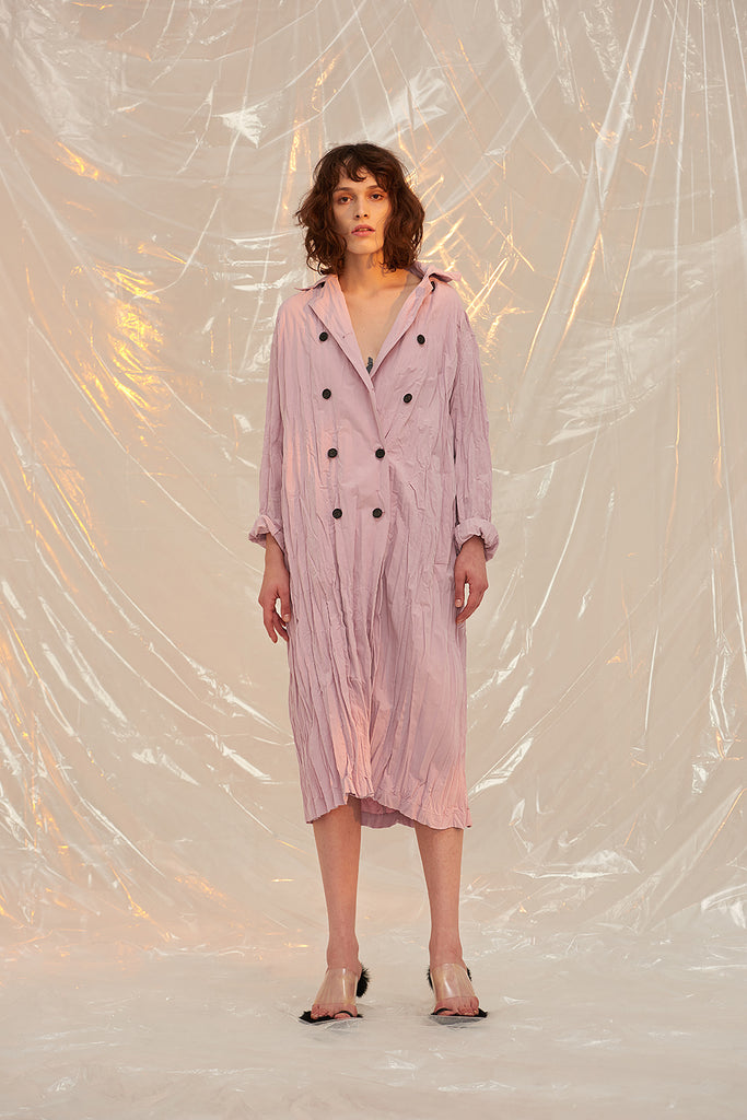 Anju Trench Coat-Lilac