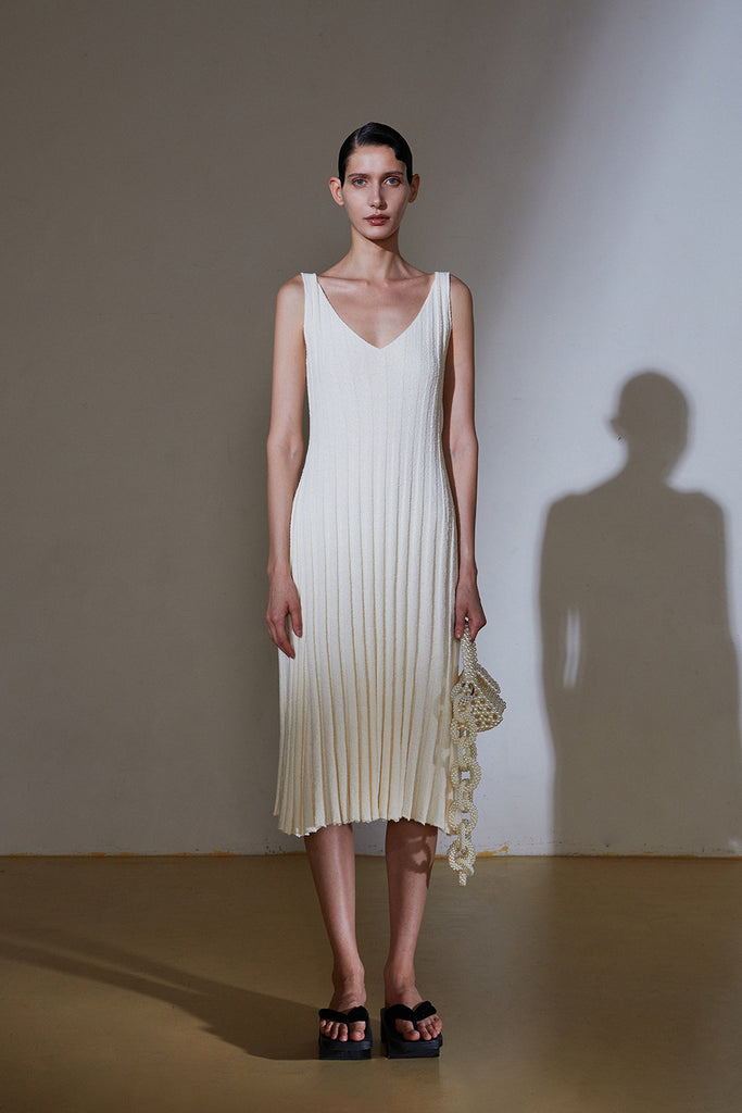 Sour Knit Dress-Ivory