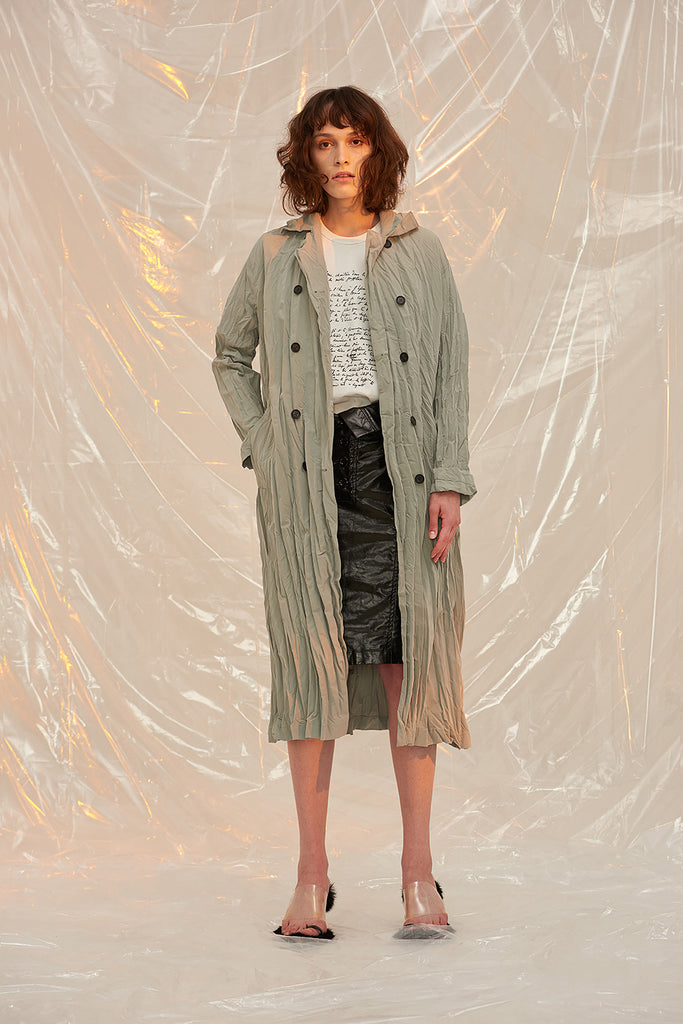 Trench Coat-Pesto