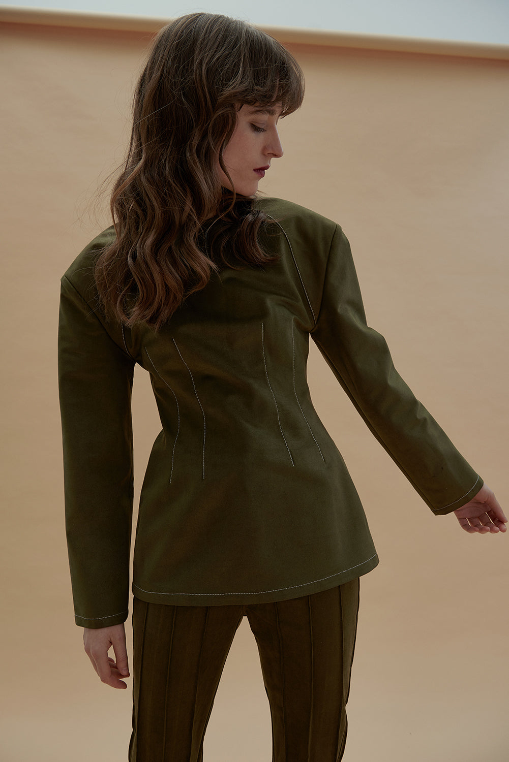 Picture This Top Suede-Moss Green