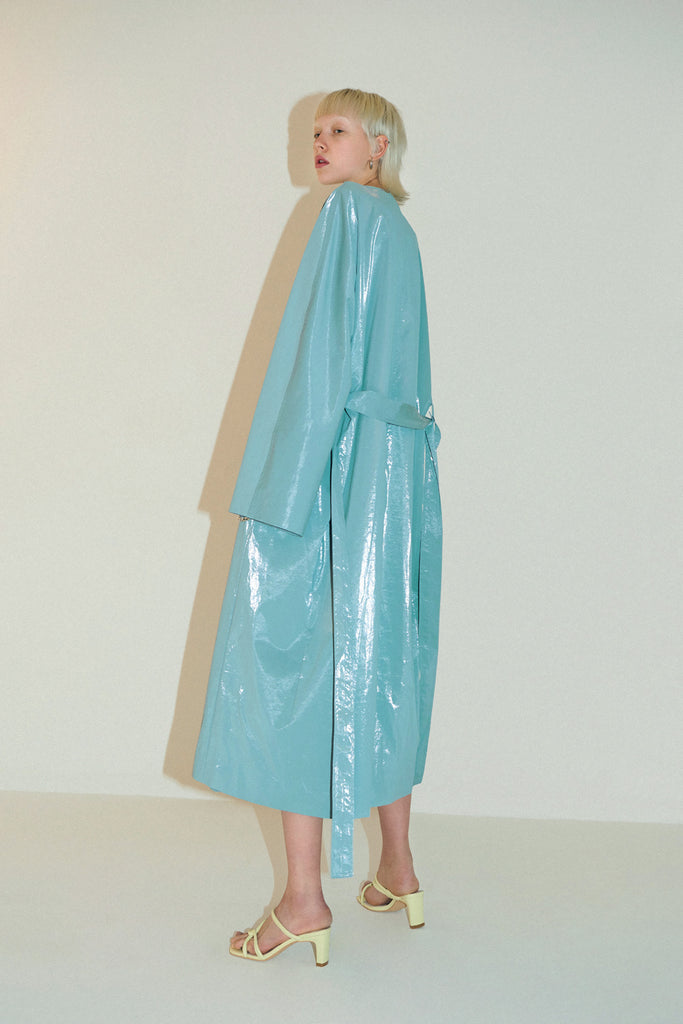 Sakura Coat-Blue