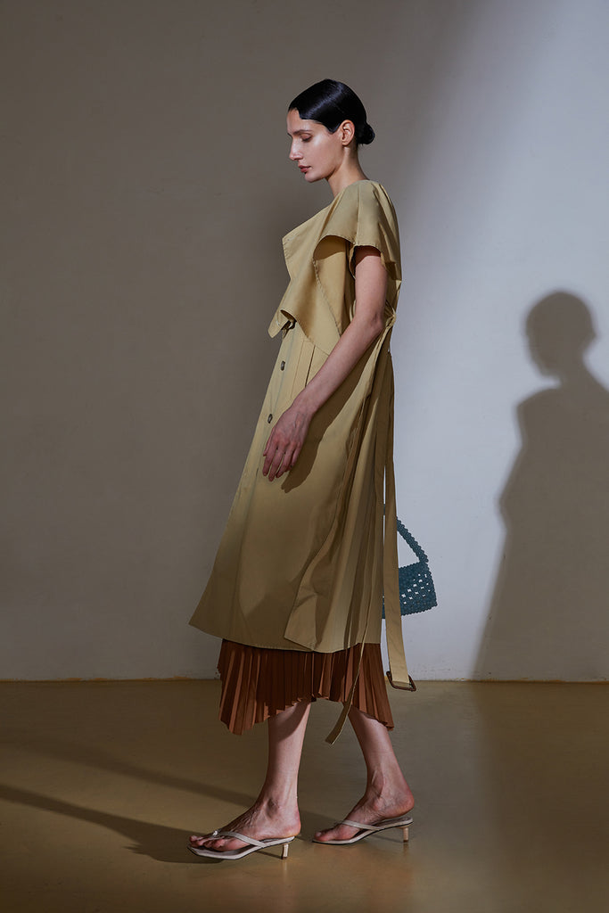 Trench Dress-Camel