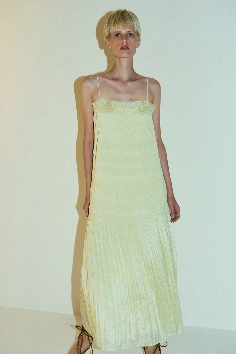 Kyoen Dress-Vanilla Yellow