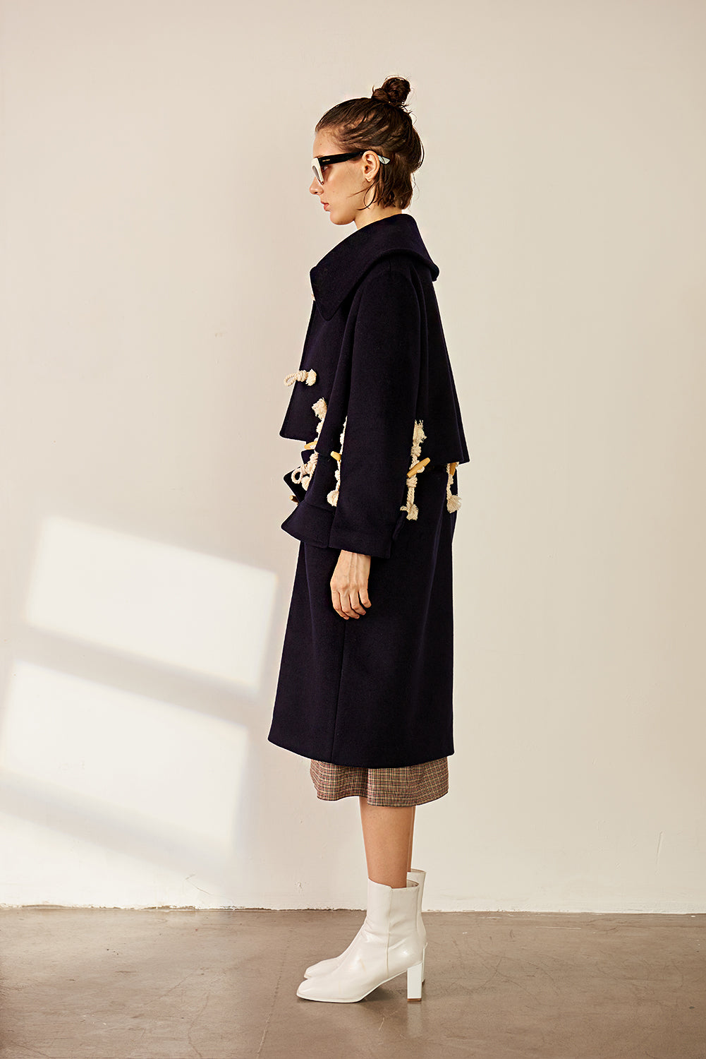 Detachable Two Way Wool-blend Coat