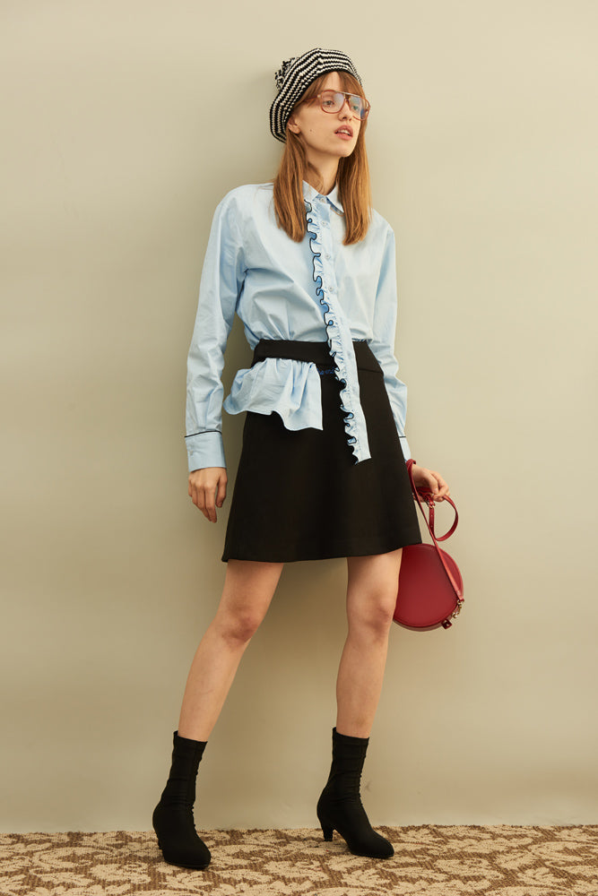 Ruffle-trimmed Shirt - front row shop