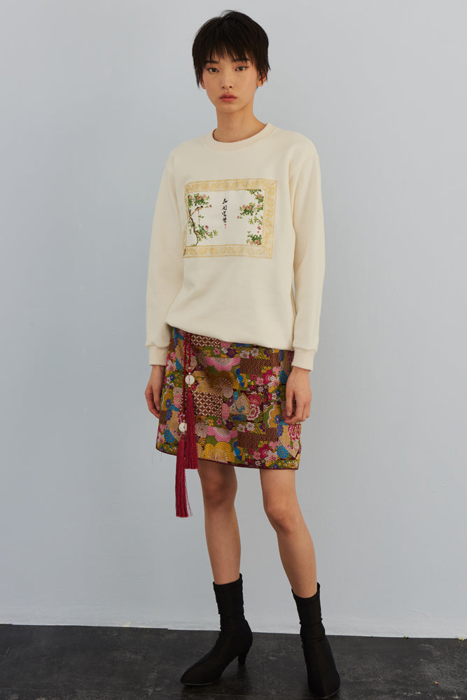 Printed Sweatshirt - front row shop