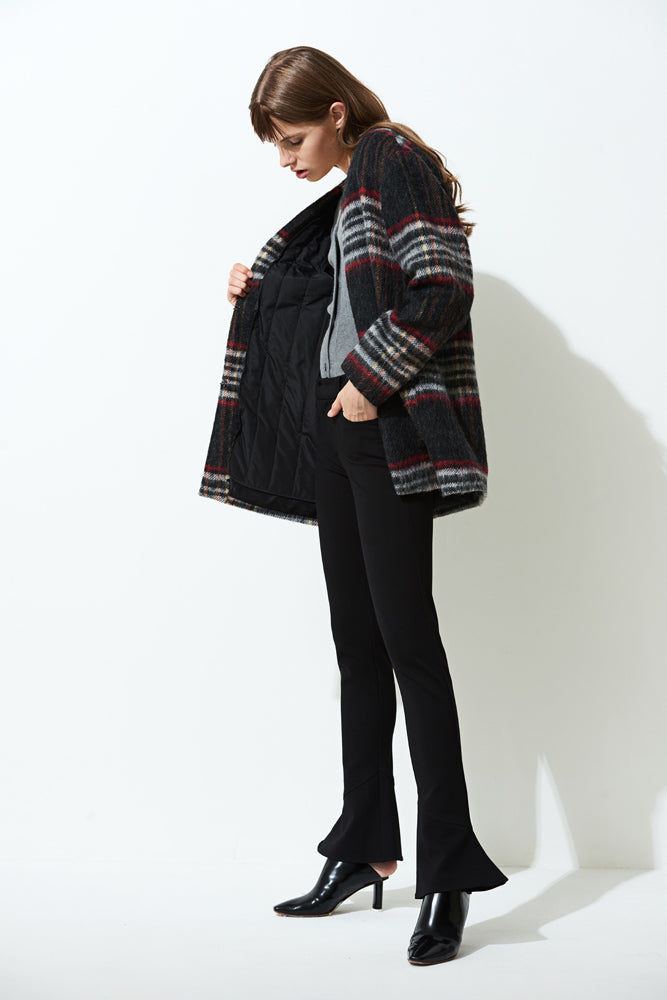 Oversize Check Coat - front row shop