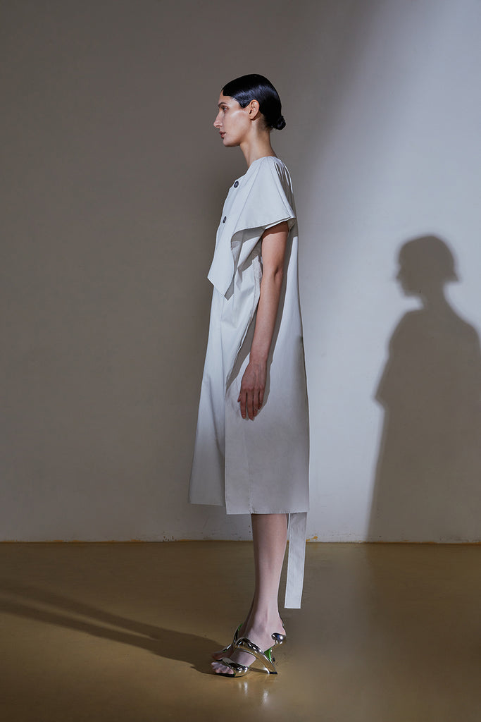 Trench Dress-Chalk