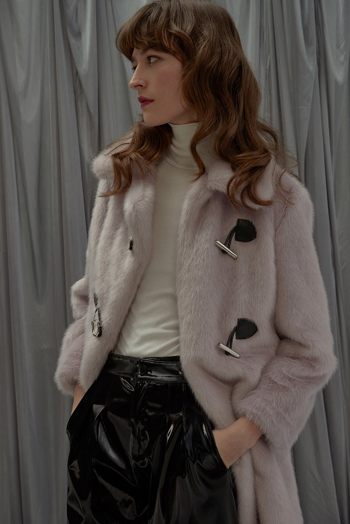 Lilac Faux Fur Coat