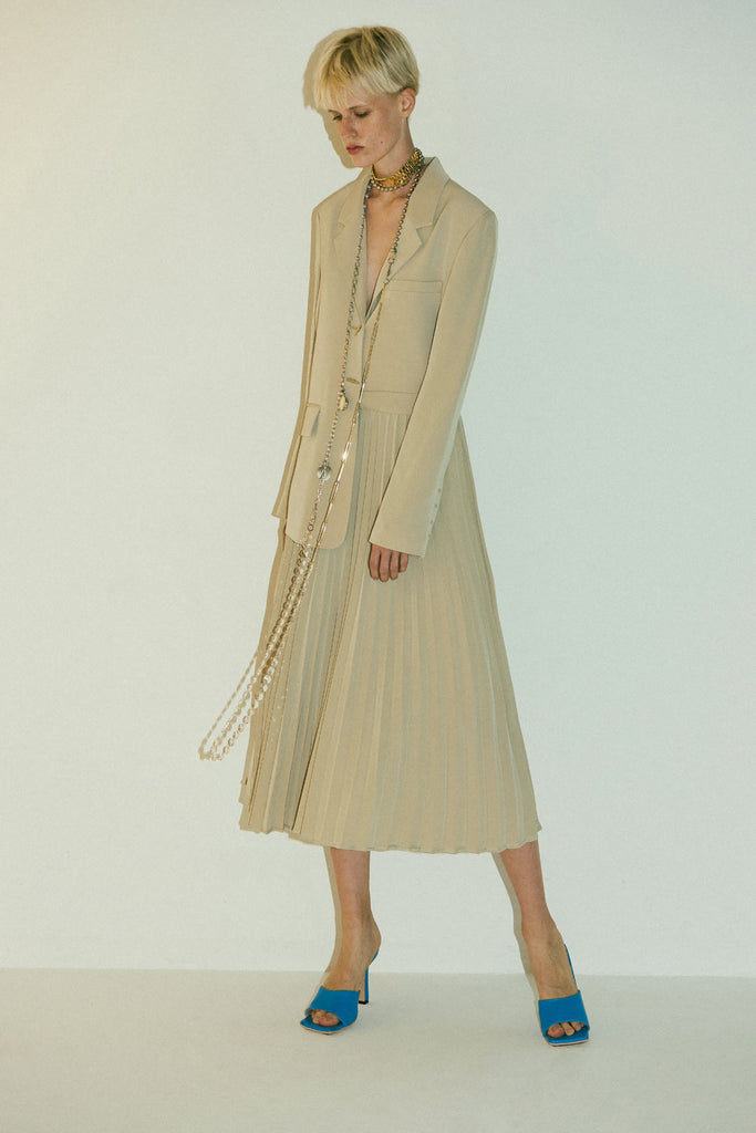 Hokori Blazer Dress-Beige
