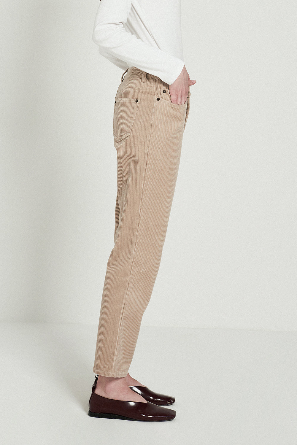 Corduroy Straight Pants - front row shop