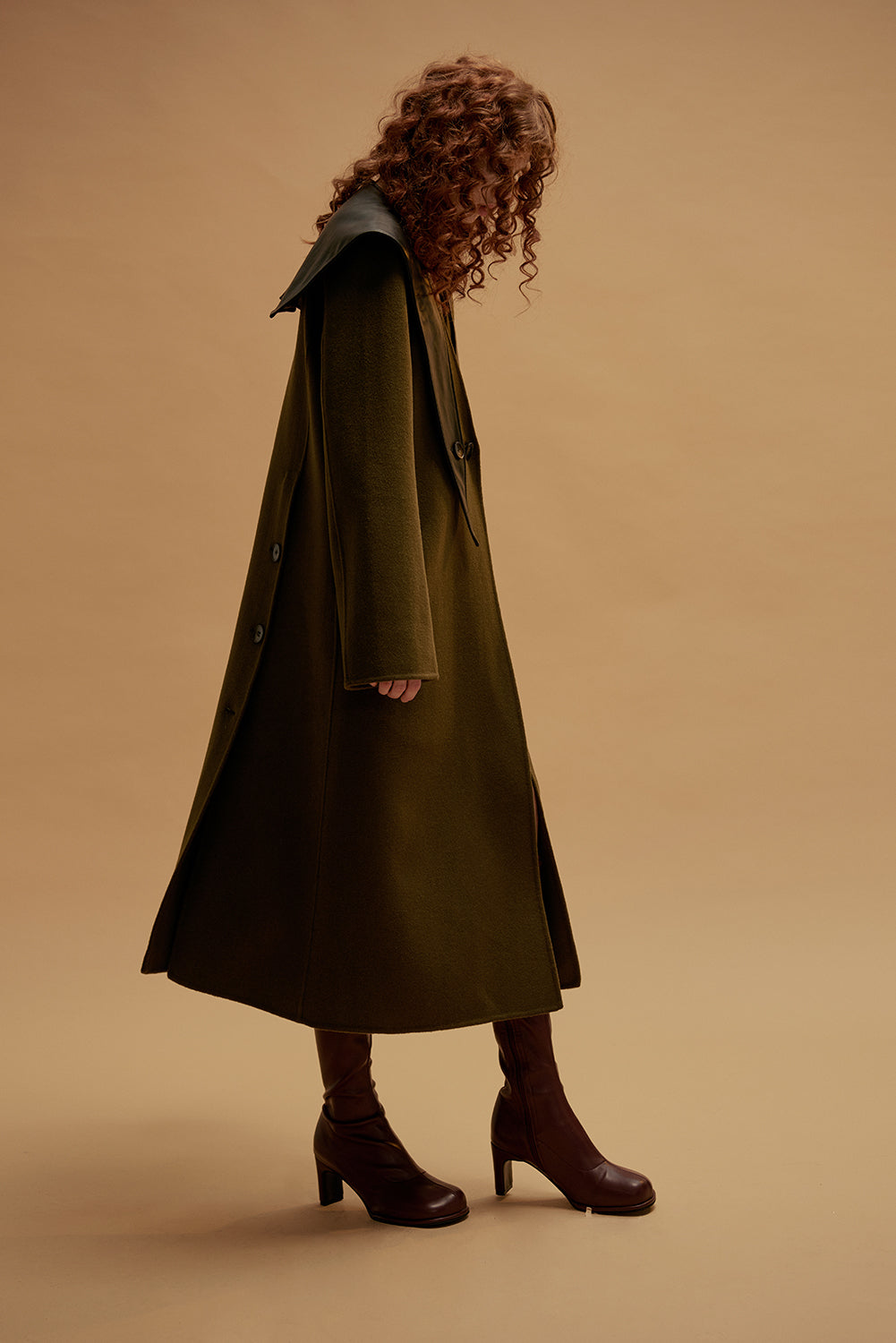 Rapture Wool Coat-Olive
