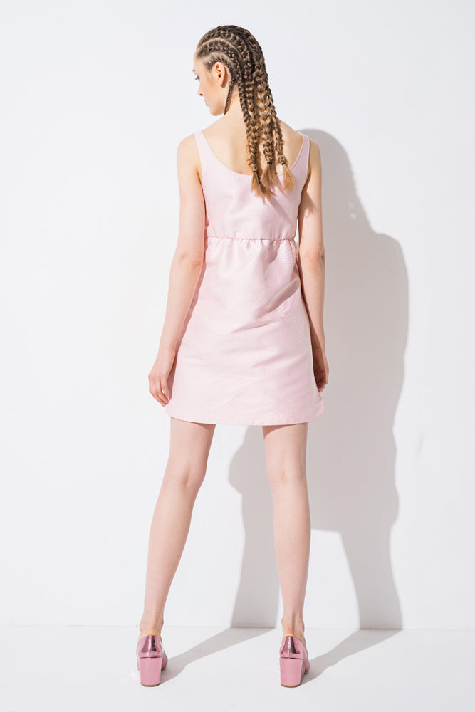 Pink Sequin Tank Mini Dress - front row shop