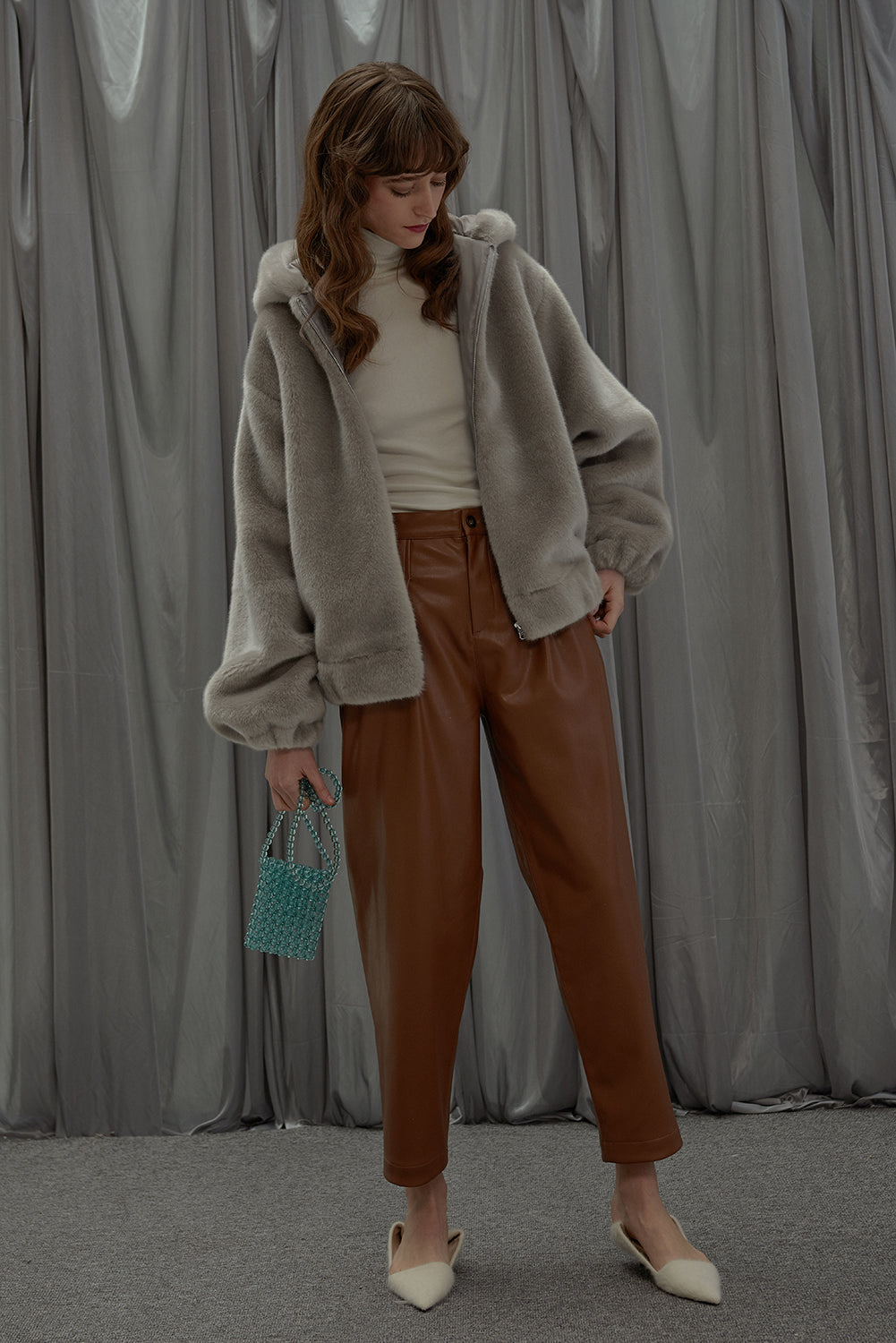 Sunday Girl Pants-Brown