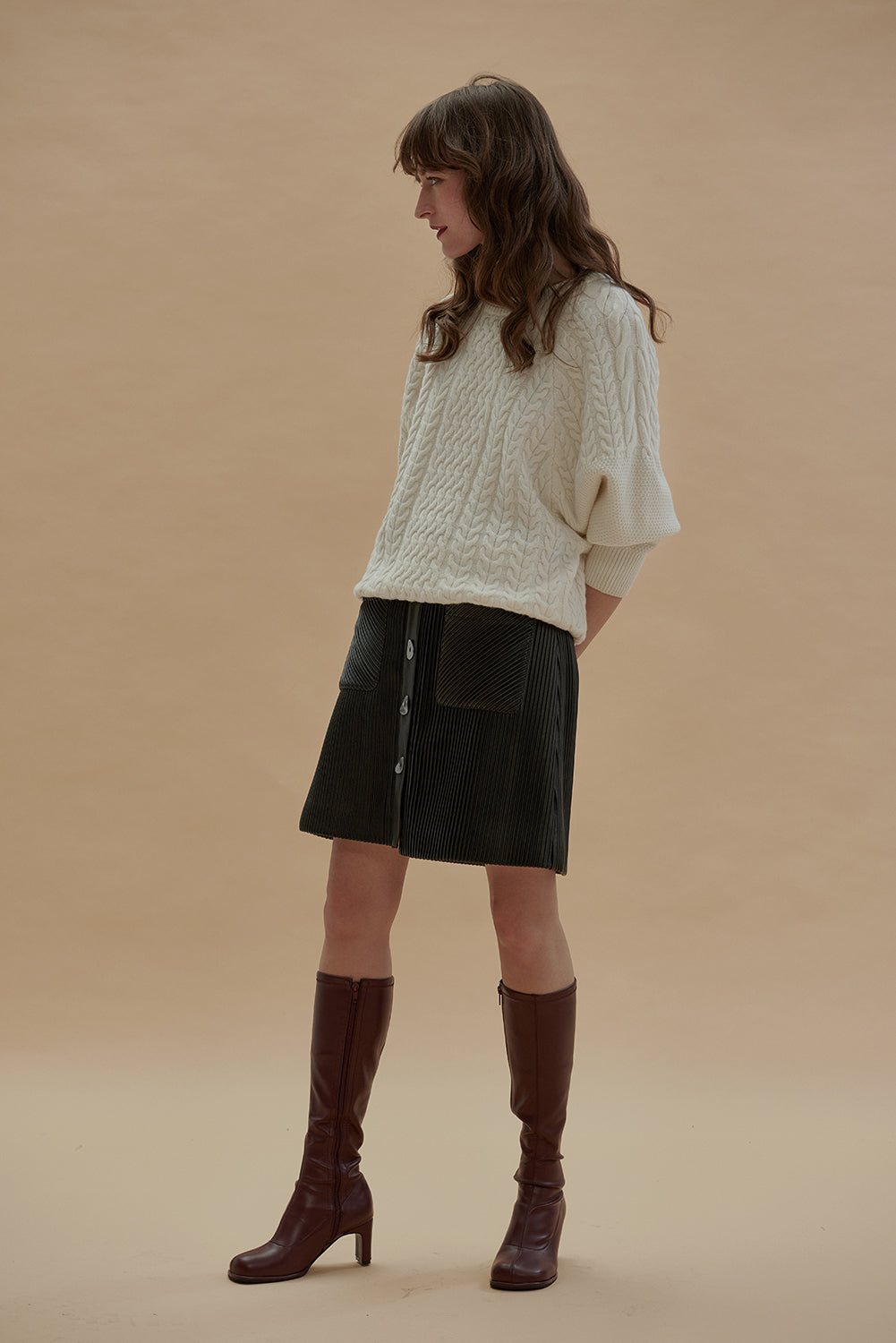 Sunday Girl Merino Wool Sweater-Cream