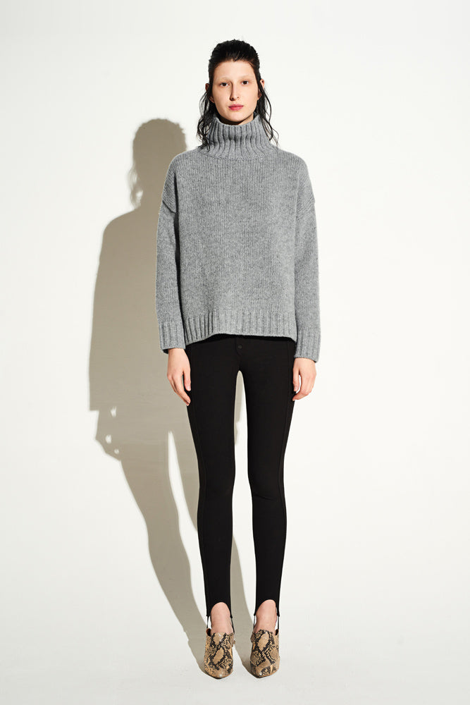 High Neck Cable Jumper - front row shop
