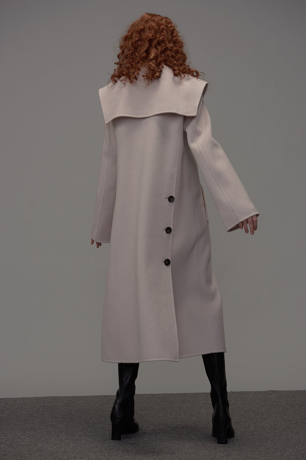 Rapture Wool Coat-Powder Pink