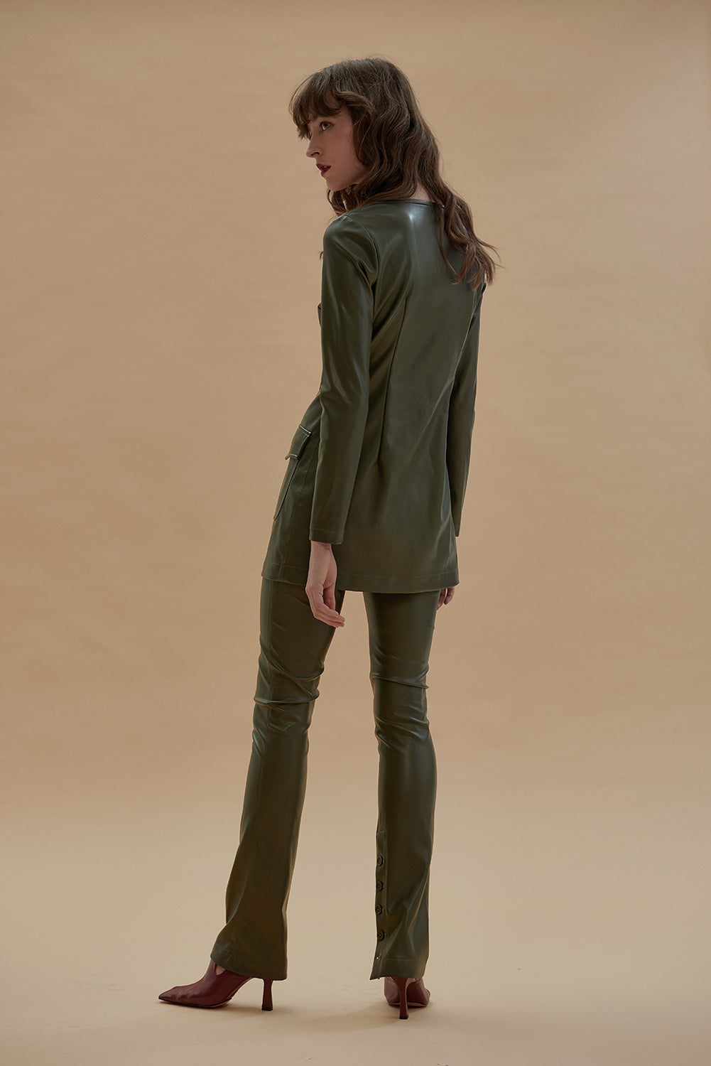 The Female Touch Top-Olive