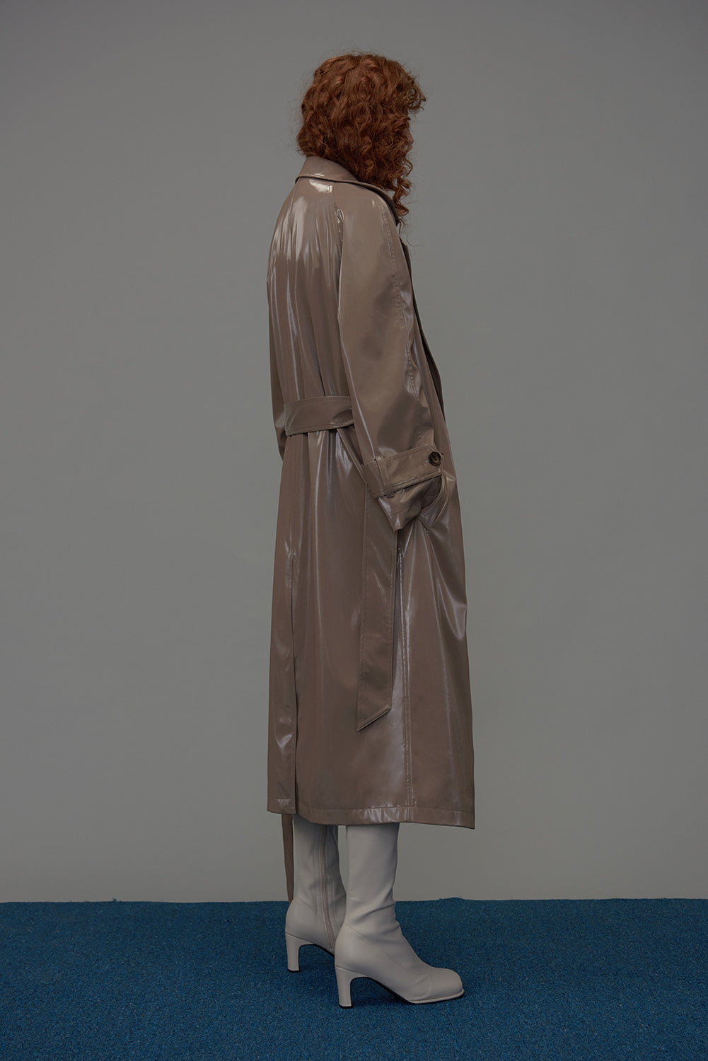 Vittoria Trench Coat-Cold Beige