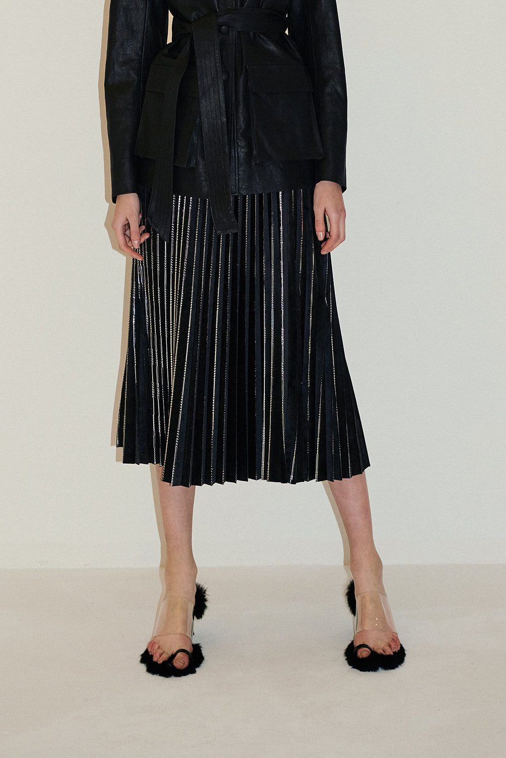 Dolce Pleatedskirt-Black