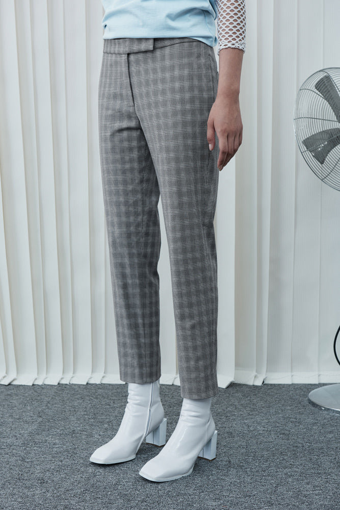 Checked Suit Trousers - front row shop
