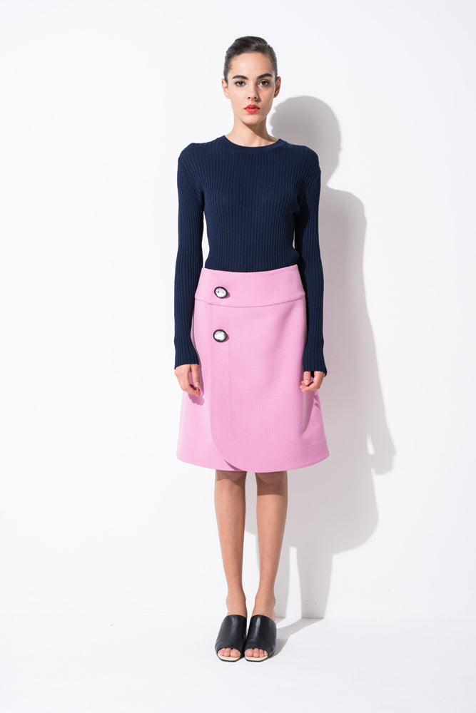 Baby Pink A-Line Skirt - front row shop