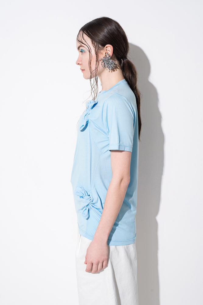 Blue Knot Detail T-Shirt - front row shop