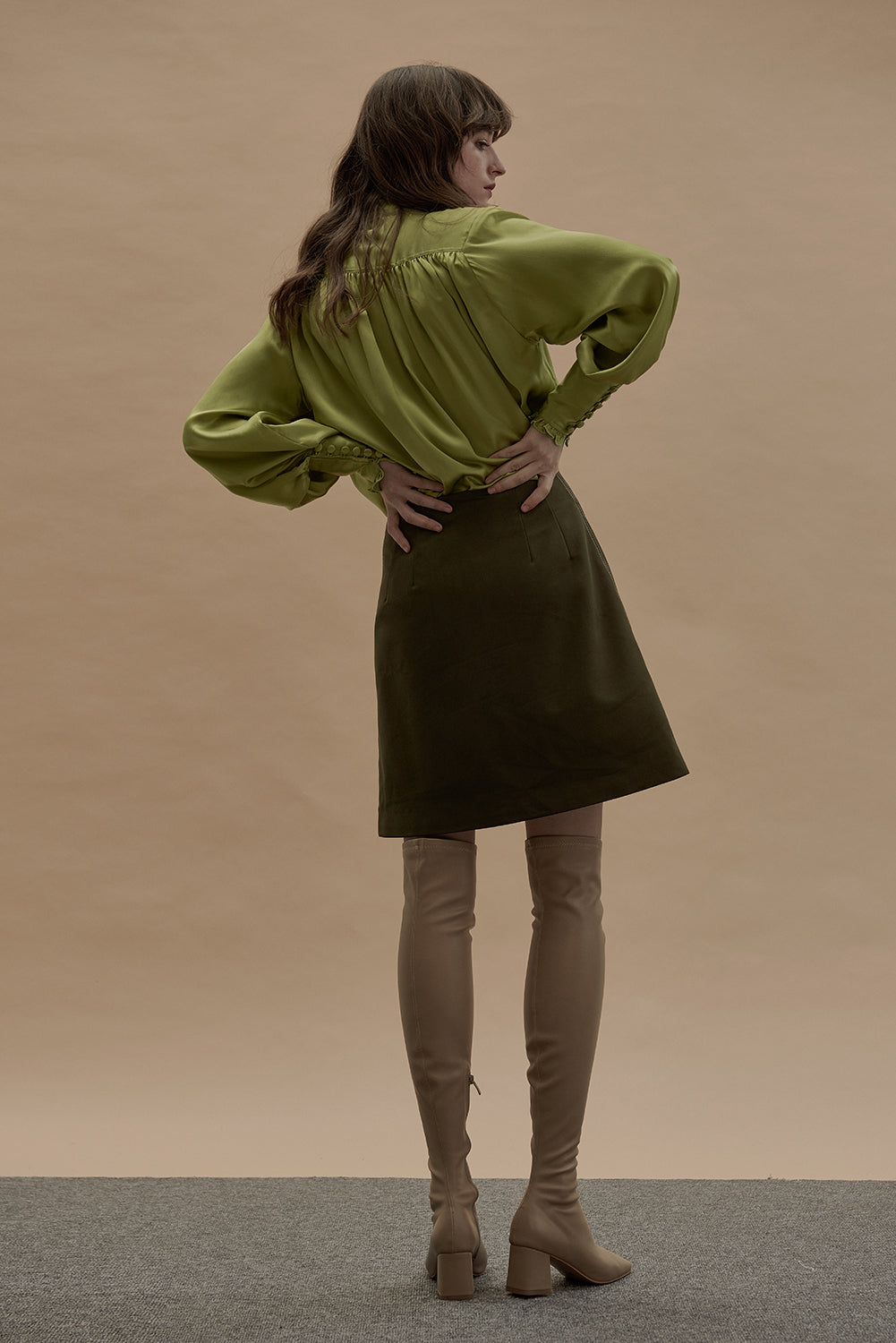 Debbie Skirt-Moss Green