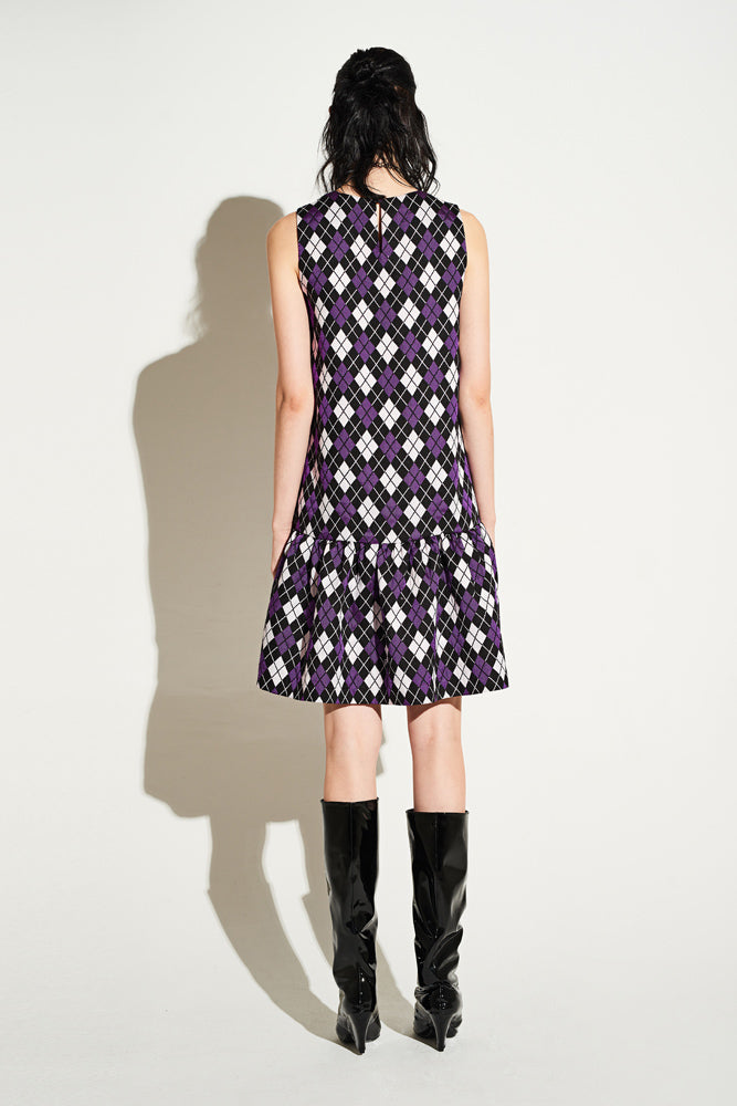 Argyle Sleeveless Dress - front row shop