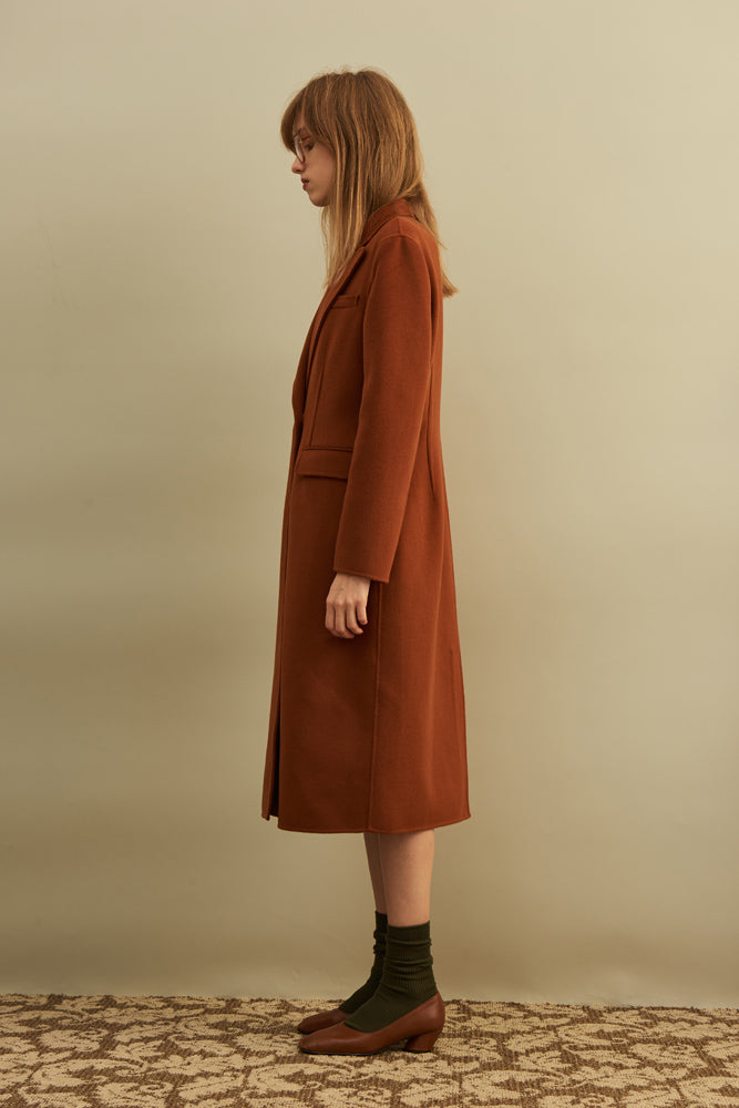Double-sided Wool-blend Coat - front row shop
