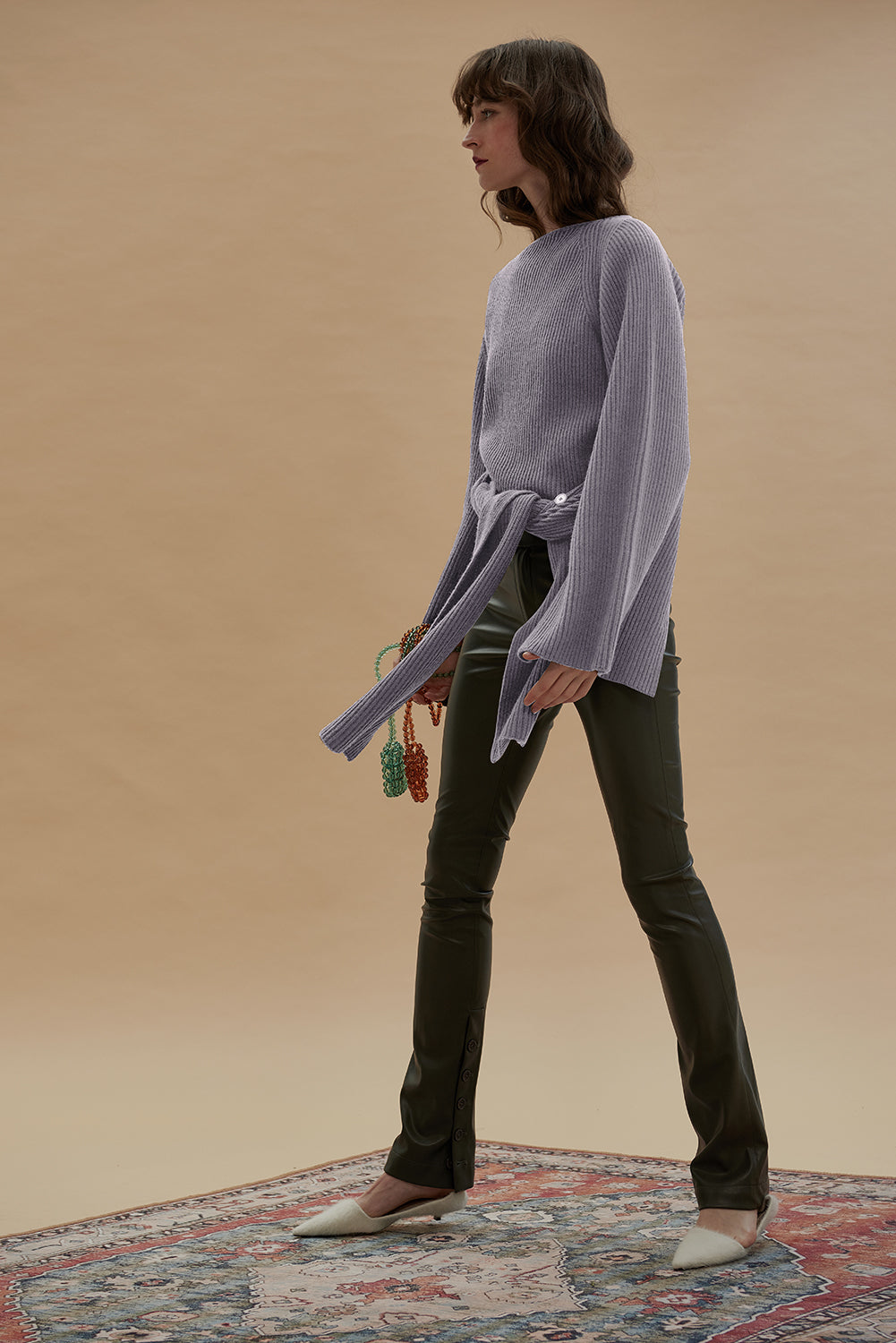 2 Ways Merino Wool Sweater-Lilac