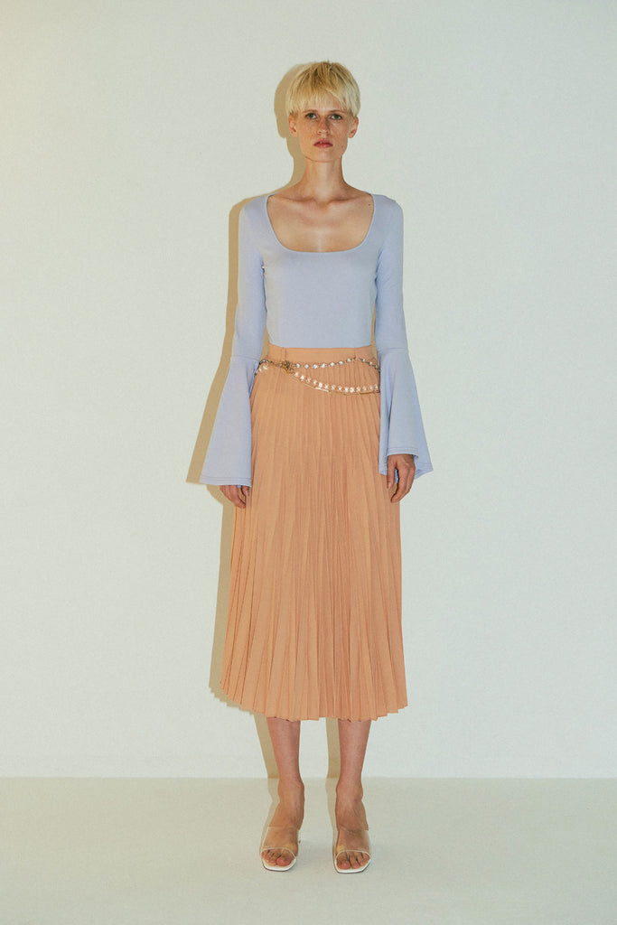 Beru Dress-Light Blue Nude