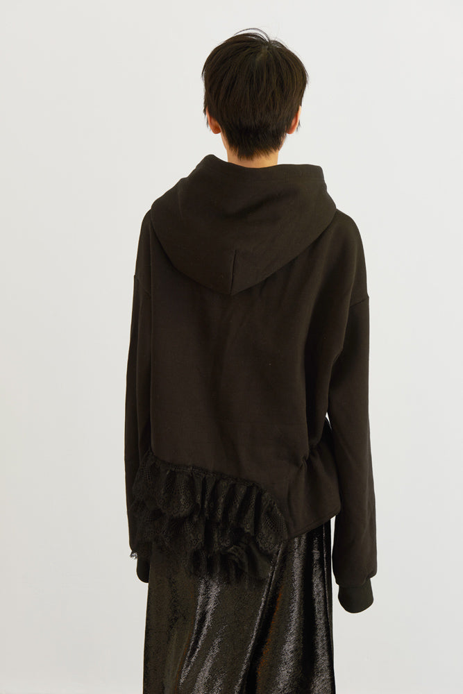 Lace-trimmed Sweatshirt - front row shop