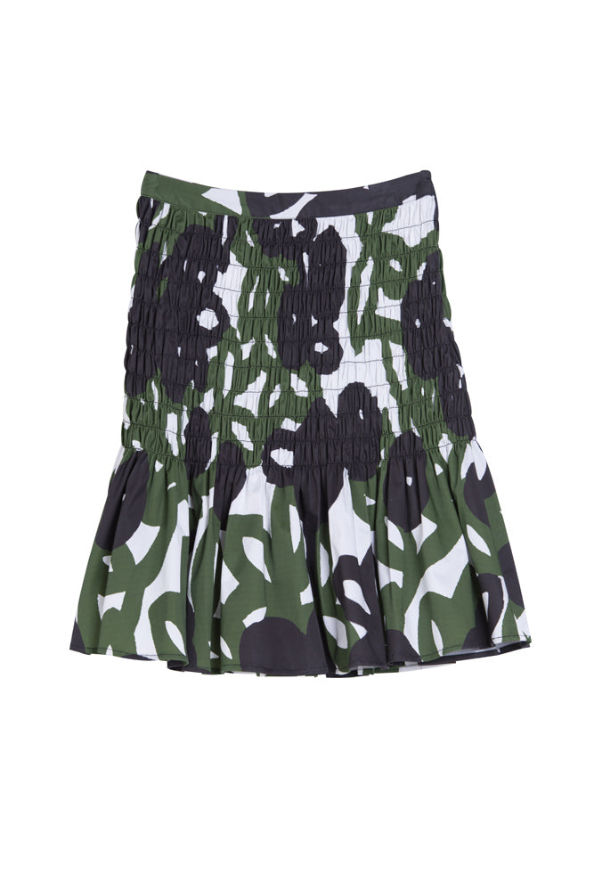 Floral Pleated Mini Skirt - front row shop