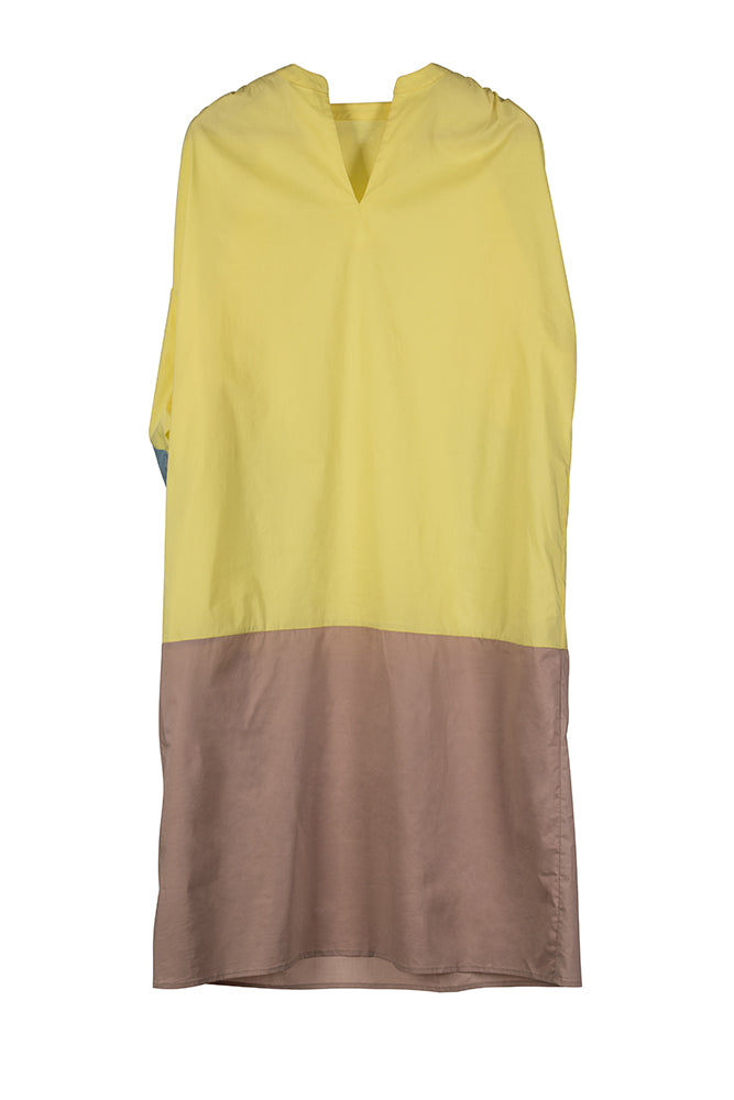 Color Block Tricolor Dress - front row shop