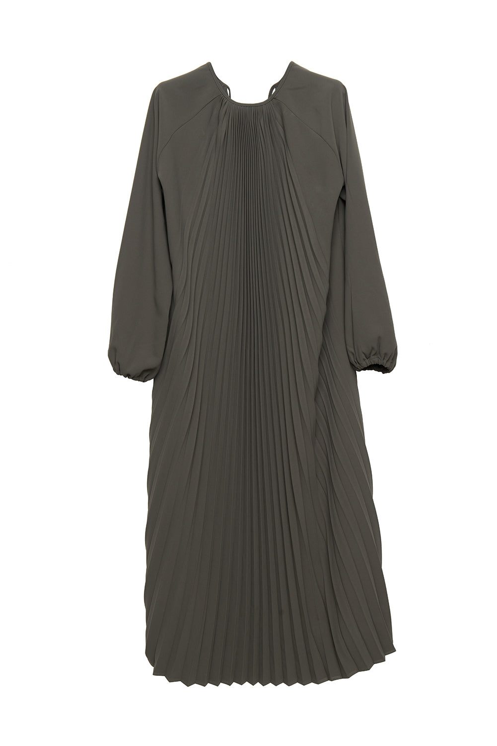 Fan-shaped Pleated Dress - front row shop