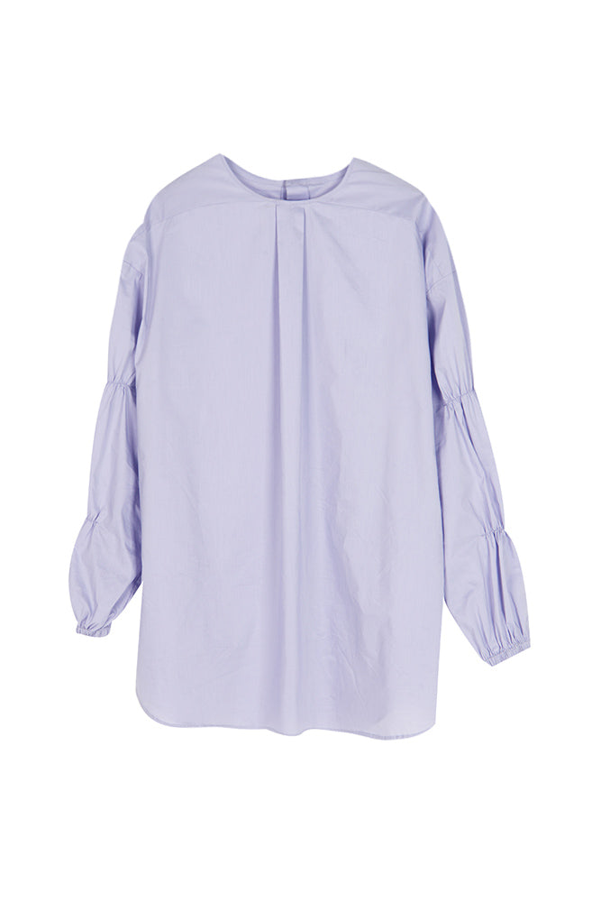 Reversible Button Back Puff Sleeve Shirt - front row shop